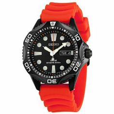 Seiko Solar Divers Black Dial Orange Rubber Mens Watch SNE245 Seiko. Save 46 Off!. $179.54. Band Color: Orange. Dial Color: Black. Model: SNE245. Water Resistant: 200 Meters. Buckle Clasp