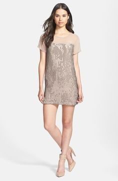 Brides ladies - Costa Blanca Sequin Stripe Shift Dress available at #Nordstrom