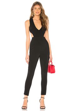 bc6d834e24fb Farrah Cut Out Jumpsuit in Black at REVOLVE.