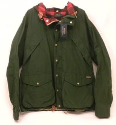 Ralph Lauren Green Northwest Hooded Water Repellent Lined Jacket Men's XXL NWT #PoloRalphLauren #BasicHoodedJacketWaterRepellent