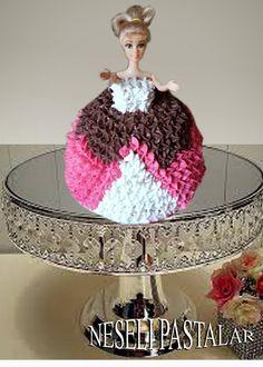 neşelipastalarim: barbi bebekli pasta