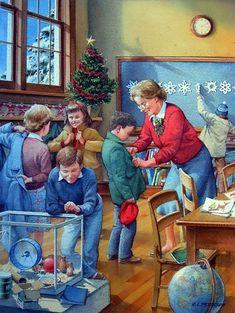 Christmas Images, Christmas Art, Vintage Christmas, Christmas Vacation, Xmas, Vintage Illustration, Christmas Illustration, Retro Art, Vintage Art