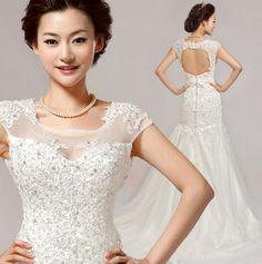 Irregular Wedding Dresses lace off shoulder 2015 fahion Irregular White Mermaid Wedding Dress plus size, KC