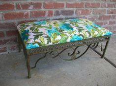 Wrought Iron Stool by FeatherThyNest on Etsy, $48.00