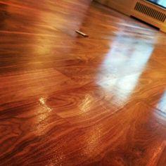 Wood is a warm, glowing material. Floor Stain, Hardwood Floors, Flooring, Restoration, Warm, Wood Floor Tiles, Wood Flooring, Floor