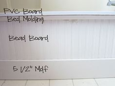 Beadboard Molding DIY Upgrade To Builderu0027s Grade Tub