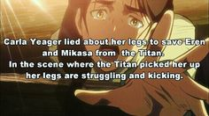 Shingeki no Kyojin. Attack on Titan. Eren Yeager. Mikasa Ackerman. Anime facts