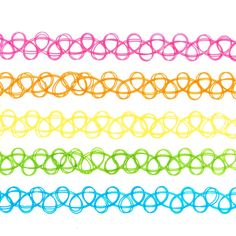 5 Pack Neon Tattoo Choker Necklaces ($8.50) ❤ liked on Polyvore featuring jewelry, necklaces, tattoo choker, neon jewelry, tattoo choker necklaces, tattoo necklace and choker jewelry