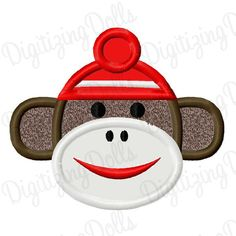 Digitizing Dolls Sock Monkey Applique Machine by DigitizingDolls