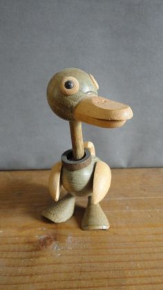 Danish modern wood Duck art figurine Kay Bojesen by swissgay, $145.00