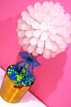 Blue & Green Rock Candy Centerpiece Topiary by HollywoodCandyGirls, $78.99