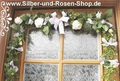 Türgirlande Hochzeit Kommunion Taufe - Silber-und-Rosen-Shop