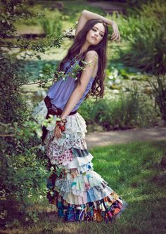 awesome boho indie fashion   fashion # maxi skirt # hippie skirt # black and white stripes