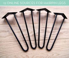 12 Online Sources for Mid-Century Modern Hairpin Table Legs
