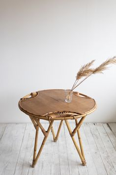 Vintage Bamboo Coffee Table / Super Marché