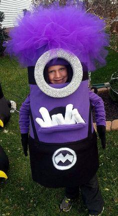 Purple Minion, homemade Halloween Costume, Minion Costume