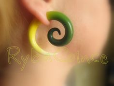Fake ear tentacle gauge - Faux gauge/Gauge earrings/Tentacle plug/tentacle earrings /spiral gauge/ fake piercing