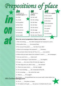 Grammar guide and some sentences to practise the newly gained knowledge.You may also like this ws: http://en.islcollective.com/resources/printables/worksheets_doc_docx/prepositions_of_time/prepositions-of-time/73632 - ESL worksheets