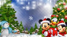 Find the best Mickey and Minnie Mouse Wallpapers on WallpaperTag. We have a massive amount of desktop and mobile backgrounds. Merry Christmas Wallpaper, Merry Christmas Images, Holiday Wallpaper, Christmas Pictures, Christmas Cards, Christmas Frames, Natal Do Mickey Mouse, Mickey Mouse Christmas, Christmas Cartoons
