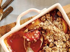 Savor the summer's best produce with this simple, family-favorite crisp. Freshly grated nutmeg accents the flavors of the fruit while the...
