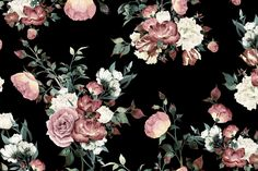 Dark floral wallpaper patterns pinterest floral wallpapers create an extravagantly elegant space in your home with our beautiful vintage pink and cream dark floral wall muralis design features large mightylinksfo