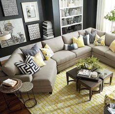 Design Guide: How to Style a Sectional Sofa | Living rooms, Room and ...