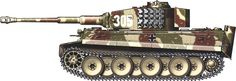 Tiger H/E camouflage patterns -  Belgium, May 1944 sSS-PzAbt101