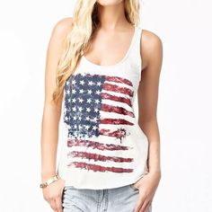 White American Flag and Star Tank, 3% discount @ PatPat Mom Baby Shopping App