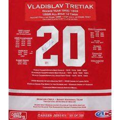 Vladislav Tretiak Framed Career Jersey NHL Includes Certificate of Authenticity #AutographAuthentic