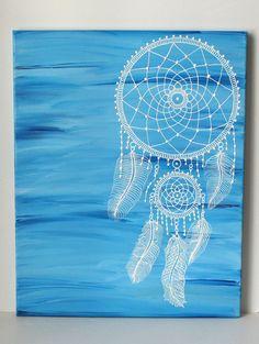 Dreamcatcher Henna Art - Mandala Dreamcatcher , Bohemian Art , Whimsical Art , Bohemian Decor , Blue Home Decor $125 by LavenderHenna #etsy #etsyusa #lavenderhenna