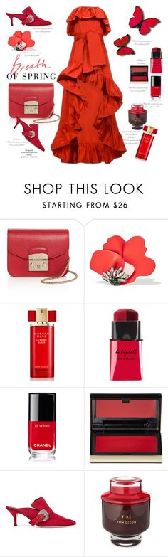 """""""Red passion💋💋💋💋"""" by naki14 ❤ liked on Polyvore featuring Furla, Marni, Estée Lauder, Chanel, Kevyn Aucoin, Dorateymur, Tom Dixon, Color, passion and red"""