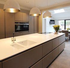 Next 125 German Kitchen for a customer in Ormskirk, Lancashire 1 Open Plan Kitchen Living Room, Kitchen Room Design, Home Decor Kitchen, Rustic Kitchen, Interior Design Kitchen, Home Kitchens, Kitchen Ideas, Modern Kitchens, Small Kitchens