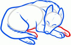 How to Draw a Sleeping Dog, Sleeping Dog, Step by Step, Pets, Animals, FREE Online Drawing Tutorial, Added by Dawn, June 28, 2012, 4:36:11 am