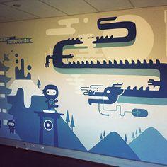 Ofis / İşyeri Duvar Resmi Boyama Örnek