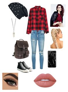 """Untitled #62"" by aubrey-corbett on Polyvore featuring Mother, Converse, Robert Graham, Recover and Lime Crime"