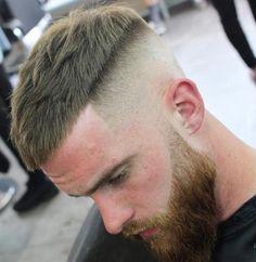 Textured Caesar with Drop Fade - Undercut Fade Haircut