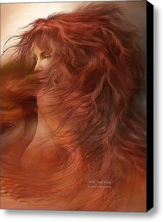 Wild Red Wind Stretched Canvas Print / Canvas Art By Carol Cavalaris