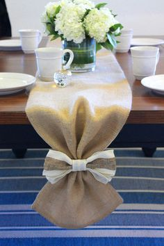 Burlap Table Runner Perfect as home linens by MonarcaDesigns