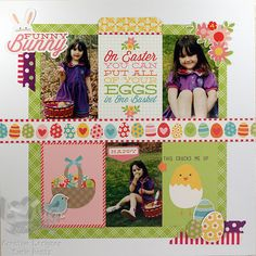 Easter Scrapbook Pages on Pinterest | Egg Hunt, Easter and Layout