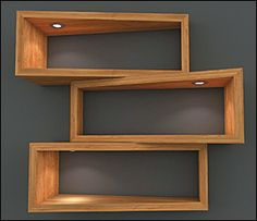 Indoor/Outdoor Color-Controlled (RGB) Mini Recessed LED Light - Lee Valley Tools - Love the shelf design for displaying the ironic Monty Python dolls Wooden Shelf Design, Wall Shelves Design, Wooden Shelves, Wall Design, Unique Shelves, Diy Home Decor, Room Decor, Wood Furniture, Home Interior Design
