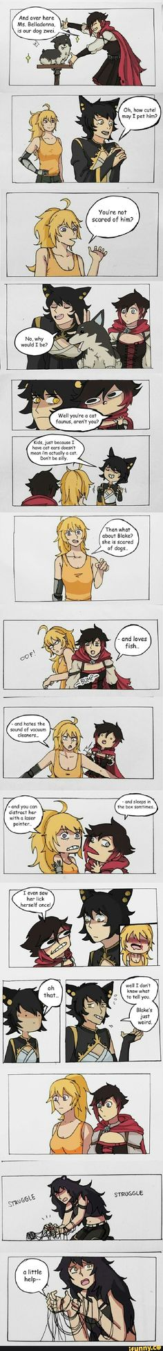 That Yang nosebleed tho xD Geeks, Red Like Roses, Rwby Memes, Rwby Characters, Rwby Red, Rwby Comic, Rwby Ships, Achievement Hunter, Team Rwby