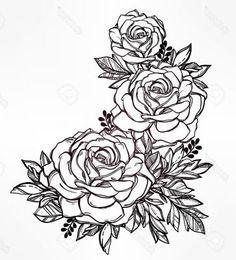dibujos para colorear de rosas bonitas