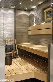 VALONTALO : HARMAA HURMAA Sauna Steam Room, Sauna Room, Jacuzzi, Massage Room Decor, Laundry Room Bathroom, Bathrooms, Indoor Sauna, Portable Sauna, Sauna Design