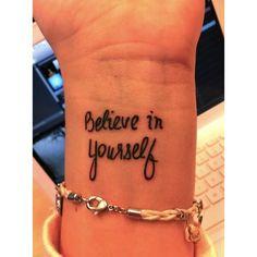 Believe in yourself!!                                                       …