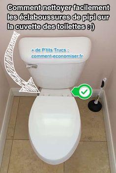 Heureusement, il existe une astuce pour nettoyer la cuvette et la lunette des WC facilement. Regardez :-) Découvrez l'astuce ici : http://www.comment-economiser.fr/comment-nettoyer-eclaboussures-urine-sur-cuvette-wc.html?utm_content=bufferb971e&utm_medium=social&utm_source=pinterest.com&utm_campaign=buffer