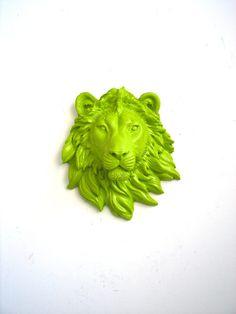 Small Faux Taxidermy Lion head wall mount wall by mahzerandvee