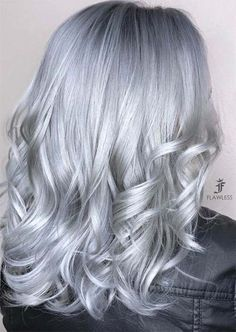 VISIT FOR MORE Silver Hair Trend: Grey Hair Colors & Tips for Going Gray. The post Silver Hair Trend: Grey Hair Colors & Tips for Going Gray. Grey Hair Wig, Silver Blonde Hair, Lace Hair, Ombre Hair, Balayage Hair, Silver Hair Colors, Silver Ombre, Dyed Gray Hair, Long Grey Hair