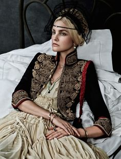 Caroline Trentini Wears Nunnery Elegance Flashed By Giampaolo Sgura For Vogue…
