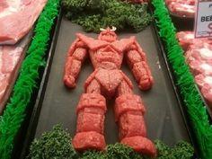 Esculturas de personagens feitas com carne - Garotas Nerds