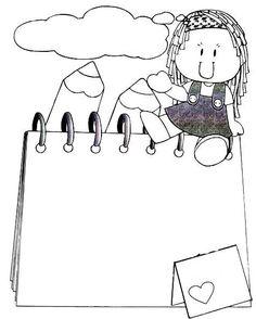 Recursos maestros: Fondos para carteles e imágenes Hoy recopilamos de Internet fondos para crear carteles o mensajes o simplemente portadas..... Borders For Paper, Borders And Frames, Coloring Book Pages, Coloring Pages For Kids, Charlie E Lola, Lap Book Templates, Graduation Crafts, Letters For Kids, Kids Art Class